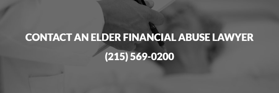Contact a financial elder abuse attorney